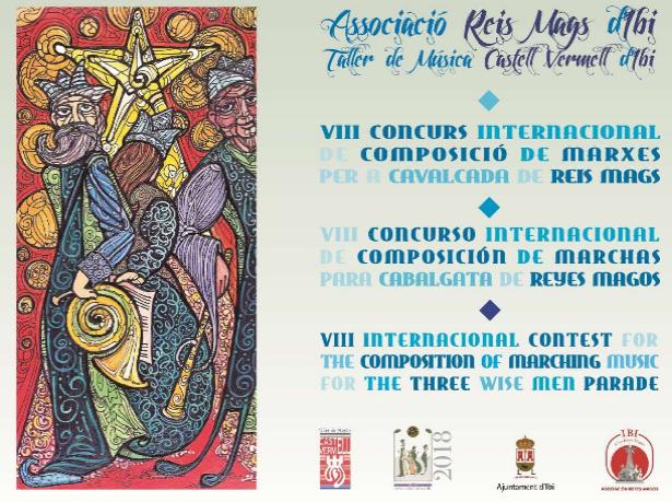 Bases VIII Concurs Internacional Composició Marxes Cavalcada Reis Mags d'Ibi 2018 / Bases VIII Concurso Internacional Composición Marchas Cabalgata Reyes Ibi 2018