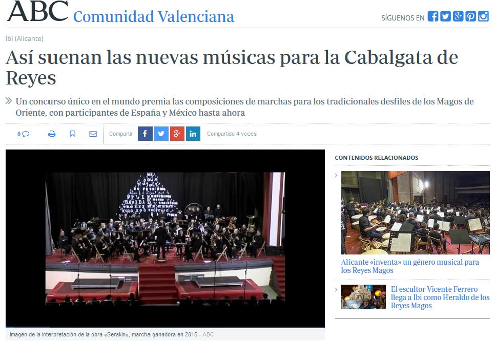 Así suenan las nuevas músicas para la Cabalgata de Reyes (diario ABC)